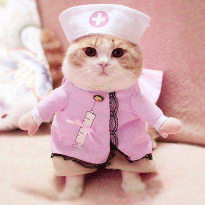 Pet Cat Dog Nurse Costume Cosplay Change Clothes