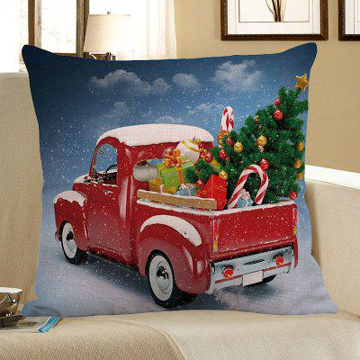Buy COLORFUL Christmas Car Printed Decorative Pillow Case for $4.56 in GearBest store