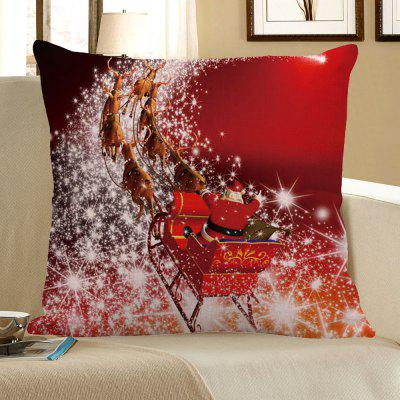 Buy RED Christmas Carriage Pattern Decorative Pillow Case for $4.56 in GearBest store