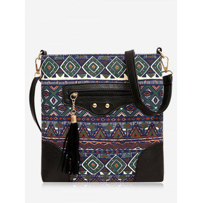 Buy Tribal Print Tassel Crossbody Bag GREEN Bags & Shoes > Women's Bags > Crossbody Bags for $19.42 in GearBest store