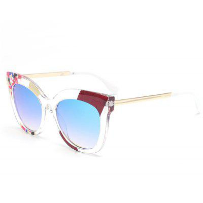 Color Pieces Embellished Butterfly Sunglasses
