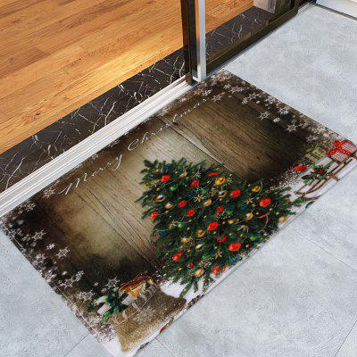 Bathroom Antislip Christmas Tree Area Rug