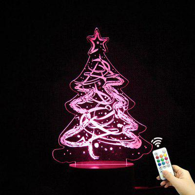 3D Christmas Tree Shape Color Change Telecontrol Night Light