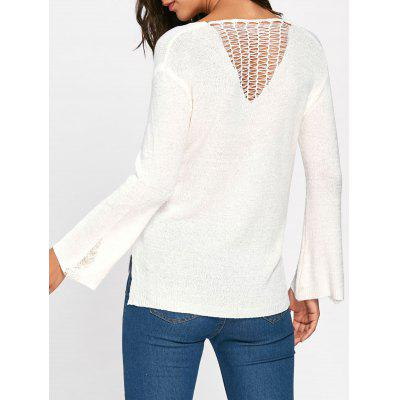 High Low Hollow Out Sweater