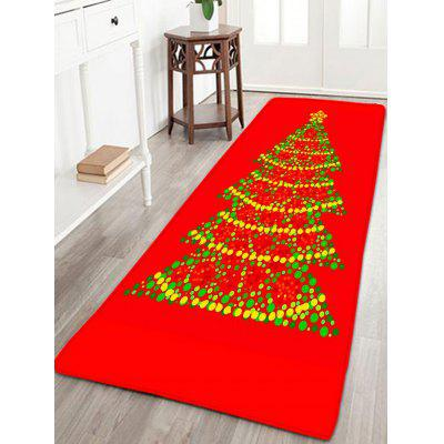 Christmas Tree Flannel Thin Skidproof Bath Mat