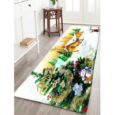 Flannel Thin Christmas Tree Skidproof Bath Mat