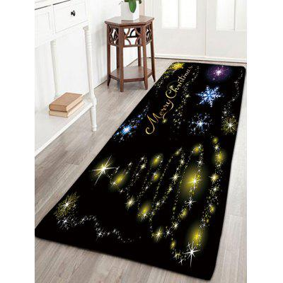 Flannel Thin Christmas Tree Snowflake Bath Rug