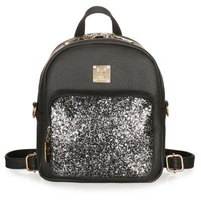 Dual Function Metal Glitter Crossbody Bag