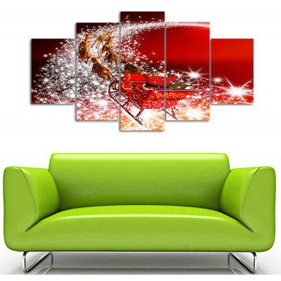 Christmas Sled Print Split Canvas Wall Art Paintings