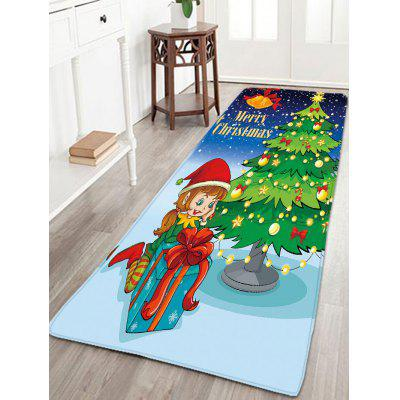 Flannel Thin Christmas Tree Antiskid Area Rug