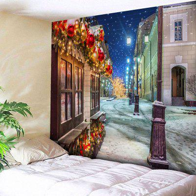 Christmas Street Print Wall Tapestry