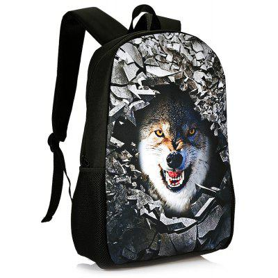 Buy WHITE 3D Rubble Animal Print Backpack for $26.15 in GearBest store