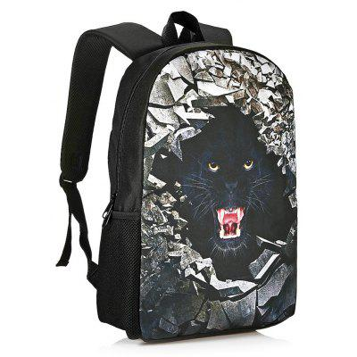 Buy BLACK 3D Rubble Animal Print Backpack for $26.15 in GearBest store