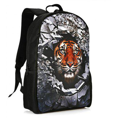 Buy TIGER PRINT 3D Rubble Animal Print Backpack for $26.15 in GearBest store