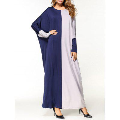 Two Tone Oversized Maxi Arabic Dress