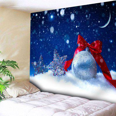 Christmas Snow Star Ball Wall Tapestry