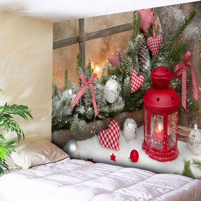Christmas Candle Ball Heart Wall Tapestry