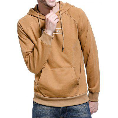 Hooded Graphic Print Pocket Hoodie