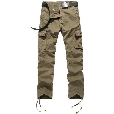 Zipper Fly Drawstring Pés Pockets Cargo Pants