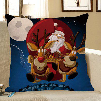 Buy Christmas Cartoon Elk Pattern Decorative Pillow Case COLORFUL Home & Garden > Home Textile > Bedding > Pillow for $4.42 in GearBest store