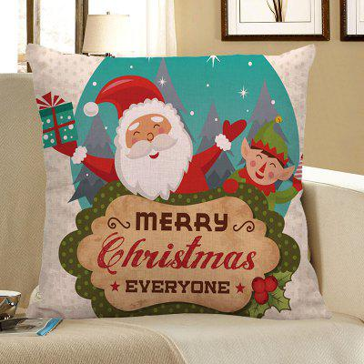 Buy Happy Santa Claus Printed Decorative Pillow Case COLORFUL Home & Garden > Home Textile > Bedding > Pillow for $4.56 in GearBest store