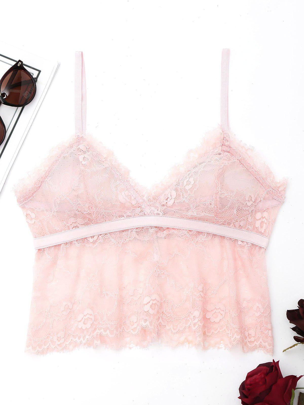 Lace See Through Cami Bralette