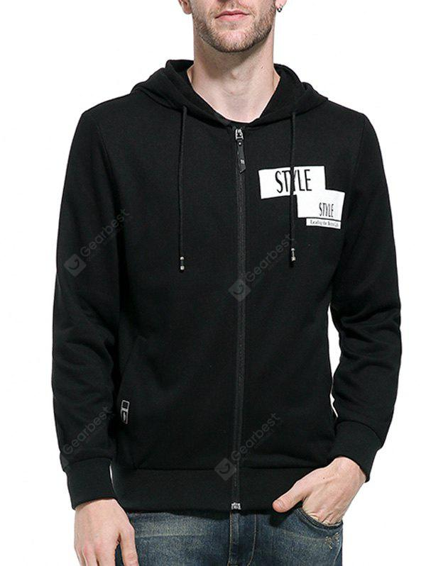 Hooded Zip Up Graphic Print Hoodie
