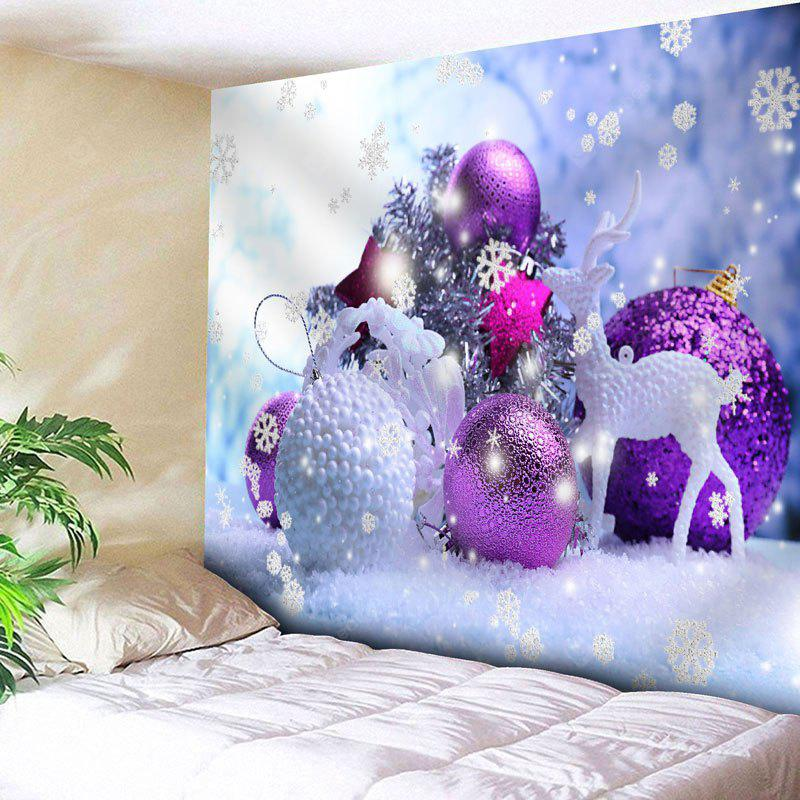 Christmas Ball Deer Print Wall Tapestry