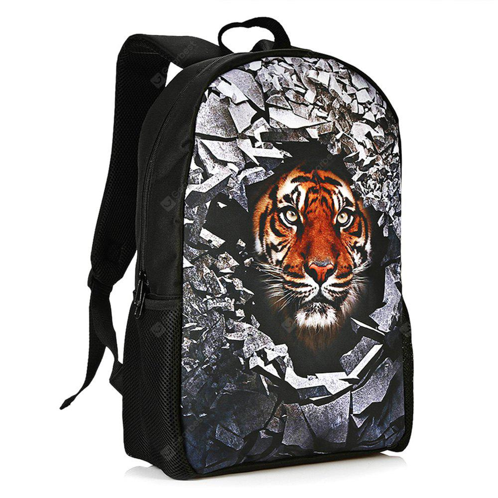 TIGER PRINT 3D Rubble Animal Print Backpack