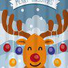 Christmas Cartoon Deer Waterproof Shower Curtain - COLORMIX