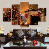 Christmas Tree Fireplace Print Unframed Canvas Split Paintings - COLORMIX