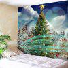 Christmas Tree Pattern Wall Hanging Tapestry - GREEN