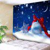 Christmas Snow Star Ball Wall Tapestry - BLUE