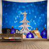 Christmas Tree Balls Wall Decor Tapestry - BLUE