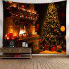 Christmas Tree Fireplace Wall Art Tapestry - COLORMIX