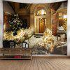 Wall Decor Christmas Snow Night Tapestry - COLORMIX