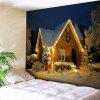 Christmas Snow Night Wall Art Tapestry - COLORMIX