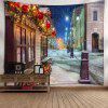 Christmas Street Print Wall Tapestry - COLORMIX