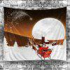 Waterproof Galaxy and Santa Claus Pattern Wall Hanging Tapestry - COLORFUL
