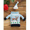 Buy Reindeer Sweater Christmas Wine Bottle Cover CLOUDY