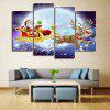 Christmas Sled Print Wall Art Split Canvas Paintings - COLORMIX