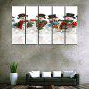 Wall Art Christmas Snowman Band Print Canvas Paintings - WHITE