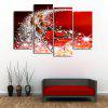 Christmas Sled Print Split Canvas Wall Art Paintings - RED