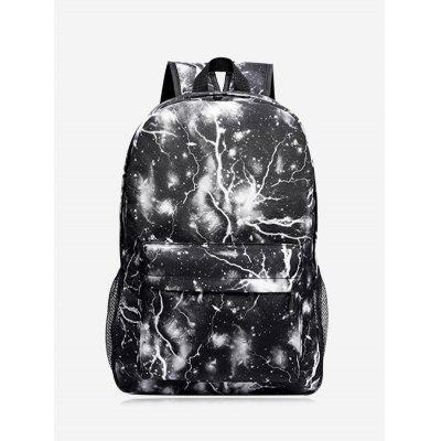 Padded Strap Lightning Print Backpack