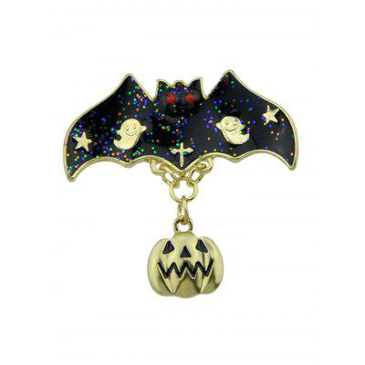 Halloween Pumpkin Ghost Bat Star Brooch