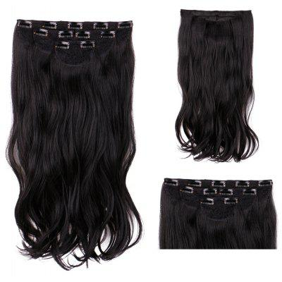 4Pcs/Lot Long Wavy Clip In Synthetic Hair Extensions
