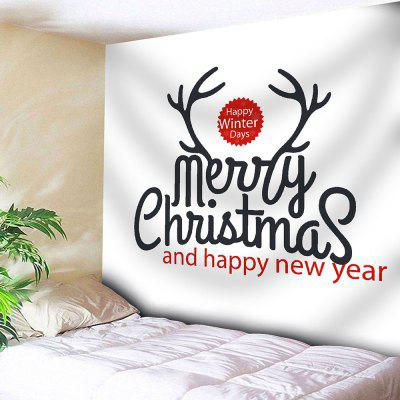 Merry Christmas Letter Print Wall Tapestry