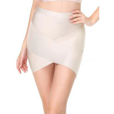 High Waisted Plain Bandage Skirt