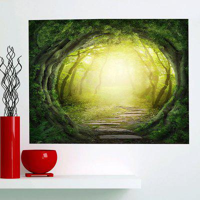 Buy GREEN Tree Hole Printed Multifunction Stick-on Wall Art Painting for $19.83 in GearBest store