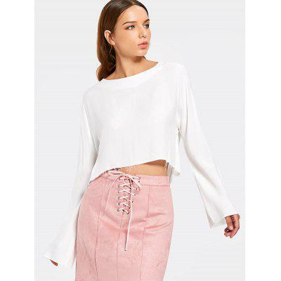 High Low Frayed Top